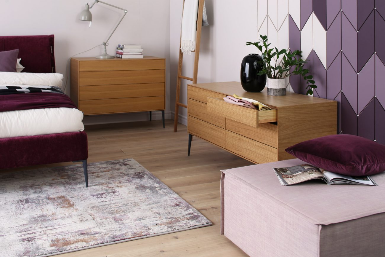 chest of drawers in oak from sofia bedroom collection